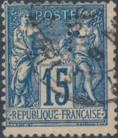 """FRANCE - 1878, Mi 73, Sage, Perfin """"VF"""" - France"""