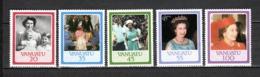 VANUATU  N° 735 à 739  NEUFS SANS CHARNIERE  COTE  8.50€  REINE ELIZABETH - Vanuatu (1980-...)