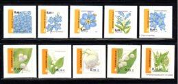 FINLANDE 2002 - Yvert N° 1565/1574 - Facit 1590/1599 - NEUF** MNH - Flore, Fleurs, Flowers, Myosotis Et Muguet - Finland