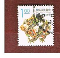 TAIWAN (FORMOSA) - SG 2151  -    1993 LUCKY ANIMALS: BLUE DRAGON     -  USED - 1945-... Repubblica Di Cina