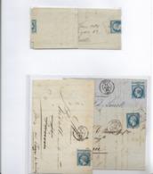 N°14 Sur Lettres Avec Découpe Frauduleuse - Marcofilia (sobres)
