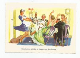 Cpm Une Bonne Année Et Beaucoup De Chance  !  Made In Germany Kruger - Humor