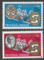 Trinidad & Tobago. 1969 50th Anniv Of International Labour Organisation (ILO). MH Complete Set SG 355-356 - Trinidad & Tobago (1962-...)
