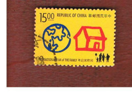 TAIWAN (FORMOSA) - SG 2209  -    1994 INT. FAMILY YEAR   -  USED - 1945-... Repubblica Di Cina