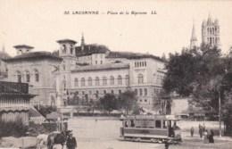Suisse - LAUSANNE - Place De La Riponne - Tramway Publicité Milka Suchard. - VD Vaud