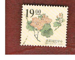TAIWAN (FORMOSA) - SG 2230  -    1995 CHINESE ENGRAVING: FLOWERS   -  USED - 1945-... Repubblica Di Cina
