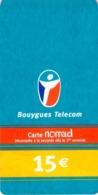 Carte Prépayée - BOUYGUES TELECOM - CARTE NOMAD  -  Image Déformée Au Scan - Frankrijk