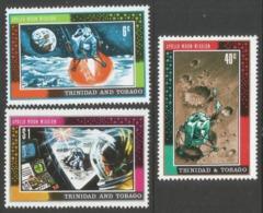 Trinidad & Tobago. 1969 First Man On The Moon. MH Complete Set SG 361-363 - Trinidad & Tobago (1962-...)