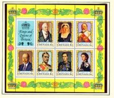 GRENADA - 1984 British Monarchs Sheetlet 7 X $4 Unmounted/Never Hinged Mint - Grenade (...-1974)