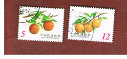 TAIWAN (FORMOSA) - SG 2696.2698  -    2001 FRUITS -  USED - 1945-... Repubblica Di Cina