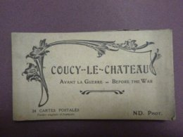 Carnet De 17 Cartes Postales (sur 24) - COUCY-LE-CHATEAU - Avant La Guerre - Before The War - France