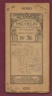 241019A - Années 1910 CARTE ROUTIERE MICHELIN 47 Feuilles 200 000e N° 36 MENDE VALENCE Pub RENAULT CH DELAGRAVE - Carte Stradali