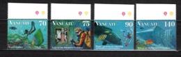 VANUATU  N° 1021 à 1024  NEUFS SANS CHARNIERE  COTE  9.20€  CORAIL POISSON ANIMAUX - Vanuatu (1980-...)