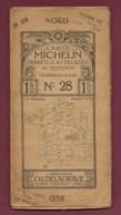 241019A - Années 1910 CARTE ROUTIERE MICHELIN 47 Feuilles 200 000e N° 28 CLERMONT LYON Pub RENAULT CH DELAGRAVE - Callejero