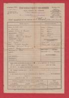 état Signalétique Et Des Services D'un Homme De Troupe Daté De 1919 - Documents