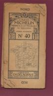 241019A - Années 1910 CARTE ROUTIERE MICHELIN 47 Feuilles 200 000e N° 40 NIMES AVIGNON Pub RENAULT CH DELAGRAVE - Roadmaps