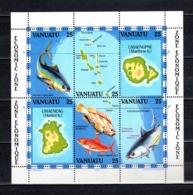 VANUATU  BLOC N° 4  NEUF SANS CHARNIERE  COTE  20.00€    PECHE  POISSON ANIMAUX - Vanuatu (1980-...)