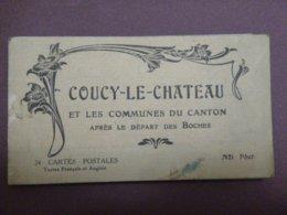 Carnet De 24 Cartes Postales (complet) - COUCY-LE-CHATEAU Et Les Communes Du Canton Après Le Départ Des Boches - France