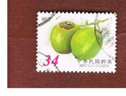 TAIWAN (FORMOSA) - MI 2841I  -    2002  FRUITS: COCONUTS -  USED - 1945-... Repubblica Di Cina
