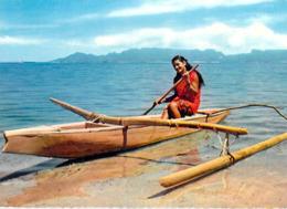 Polynésie Française- TAHITI  Pirogue De Lagon  (Vahiné  Tahitienne Canoe )  ( Editions :LABAYSSE N°43)@*PRIX  FIXE - Polynésie Française