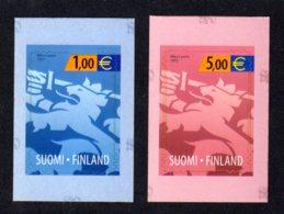 FINLANDE 2002 - Yvert N° 1557/1558 - Facit 1607/1608 - NEUF** MNH - Lion éraldique - Finland
