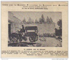 Carte Postale 92. Boulogne  Enterrement De Mozart Suivi De Son Dernier Ami Son Chien  Trés Beau Plan - Boulogne Billancourt