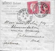 Facture Brebières - Affranch. Composé - Nouveau Tarif Au 1er Janvier 1945 - France