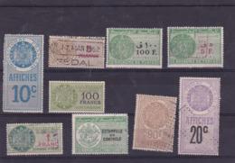 Lot De Timbres Fiscaux Protectorat Français & République De Tunisie - Tunisie (1888-1955)