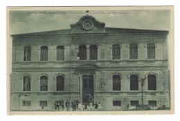 1138 - FALCONARA MARITTIMA ANCONA PIAZZA MAZZINI E NUOVO PALAZZO DELLE SCUOLE ANIMATA 1920 CIRCA - Ancona