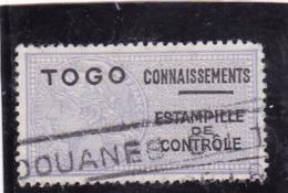 Timbre Fiscal Togo Connaissements Estampille De Contrôle - Togo (1914-1960)