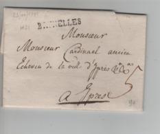 PR7520/ Précurseur LAC Daté 23/Nov/1785 Griffe Bruxellers H21 Port 5 > Ypres - 1714-1794 (Austrian Netherlands)