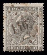 COB N°17  - Obl. Losange De Points - Bureau N° 146 (GERPINNE)) - 1865-1866 Linksprofil