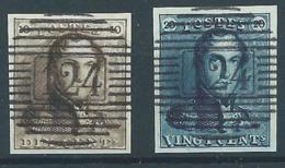 Belgique Belgïe COB 1 Et 2 P 124 (Vielsalm) - Lire Annonce Reproduction - 1849 Schulterklappen