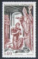 France Neuf Sans Charnière 1966 Célébrité Clovis Histoire YT 1496 - Francia