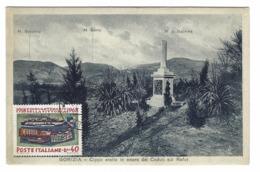 1146 - GORIZIA CIPPO ERETTO IN ONORE DEI CADUTI SUL RAFUT CARTOLINA 1930 CIRCA CON FRANCOBOLLO 1968 - Gorizia