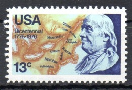 USA. N°1135 De 1976. Benjamin Franklin. - Unabhängigkeit USA