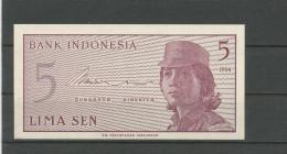 INDONESIE : 5 SEN -  NEUF - Indonésie