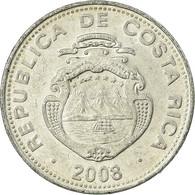 Monnaie, Costa Rica, 5 Colones, 2008, TTB, Aluminium, KM:227b - Costa Rica