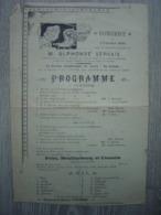 1900 - Programme Concert - Union Des Anciens Elèves De L'Ecole Nr5 - Saint-Gilles - Bruxelles - Programmes