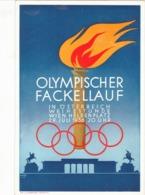 """III. Reich, Propagandakarte """" OLYMPISCHER FACKELLAUF """" In Österreich 1936 - Guerre 1939-45"""