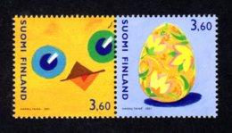 FINLANDE 2001 - Yvert N° 1526/1527 - Facit 1561/1562 - NEUF** MNH - Pâques - Finlande
