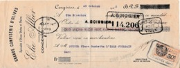 1928 - CONGENIES (30) - GRANDE CONFISERIE D'OLIVES - Elie ALLIER - MANDAT A ORDRE - Documenti Storici