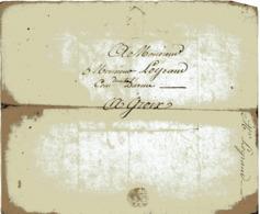 Groix. Lettre Adressée  à Monsieur Legrand Capitaine D'armes à Groix. Le 3 Décembre 1811 - Alte Papiere