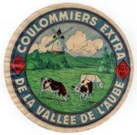 Ancienne étiquette Fromage COULOMIERS EXTRA DE LA VALLEE DE L'AUBE - Kaas