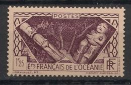 Océanie - 1939-49 - N°Yv. 108 - Divinités 1f25 Violet - Neuf GC ** / MNH / Postfrisch - Oceania (1892-1958)