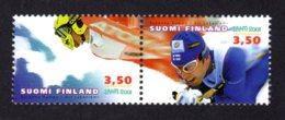 FINLANDE 2001 - Yvert N° 1518/1519 - Facit 1552/1553 - NEUF** MNH - Championat Du Monde De Ski - Finlande