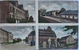 Oberlichtenau, Hauptstraße, Bahnhof, Landwirtschaftsbank, 1929  - Deutschland