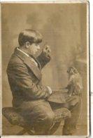 CPA PHOTO .DRESSEUR DE SINGE .MANCHESTER 1911 - Berufe