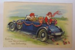 Carl Lindeberg, Kinder, Auto, Oldtimer, Rosen,   1931 ♥ (36881)  - Geburtstag