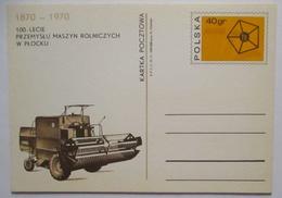 Landwirtschaft Mähdrescher Ganzsache Polen 1970 (49587) - Landwirtschaft